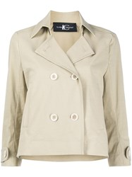Luisa Cerano Double Breasted Trench Jacket Neutrals