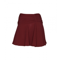 Miu Miu Ruched Crepe Mini Skirt Amarena