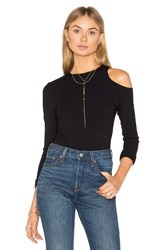 Twenty Exposed Shoulder Bodysuit Black