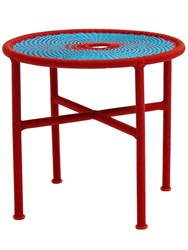 Moroso M'afrique Banjooli Tall Coffee Table Blue Red