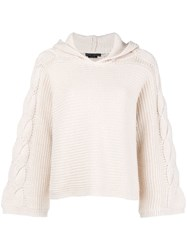 Alice Olivia Hooded Sweater Nude And Neutrals