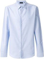 Emporio Armani Classic Long Sleeved Shirt Cotton Blue