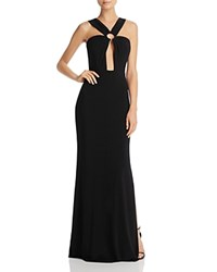 Laundry By Shelli Segal Keyhole Gown Black
