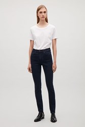 Cos Skinny Fit Cropped Jeans Dark Blue