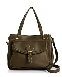 Annabel Ingall Dominic Leather Satchel Military Green Gold