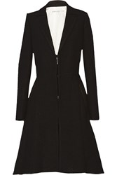 Alice Olivia Mary Leather Trimmed Wool Coat