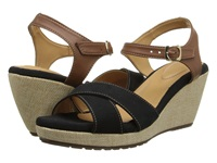 Fitzwell Santa Barbara Black Brown Women's Sandals