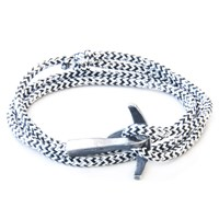 Anchor And Crew Bruce Rope And Silver Bracelet White Noir