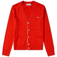 Maison Kitsune Virgin Wool Classic Cardigan Red