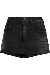 R 13 R13 Denim Shorts Black