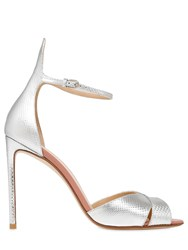 Francesco Russo 105Mm Metallic Leather And Karung Sandals