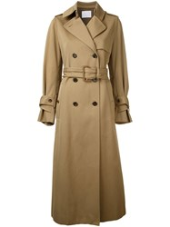 Rito Button Up Trench Coat Nude Neutrals