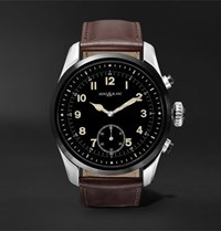 Montblanc Summit 2 42Mm Stainless Steel And Leather Smart Watch Black
