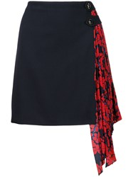 Givenchy Pleated Panel Skirt Blue