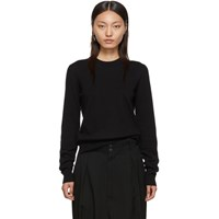 Maison Martin Margiela Black Updated Elbow Patch Sweater