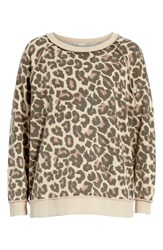 Free People Go On Get Floral Sweatshirt Neutral Combo