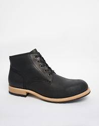 Selected Homme Work Boots Black