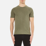 Ymc Men's Wild Ones Pocket T Shirt Olive Green