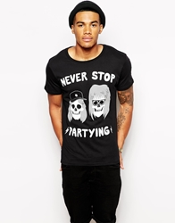 Threadless Never Stop Partying T Shirt Black