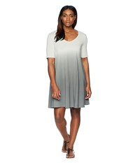 Life Is Good Swing Dress Slate Gray Dip Dye