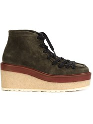 Pierre Hardy Trapper Ankle Boots Green