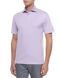 Ermenegildo Zegna Short Sleeve Polo Shirt Purple