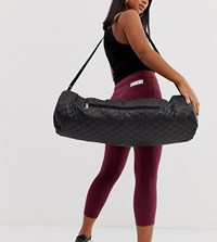 South Beach Quilted Yoga Mat Bag In Black
