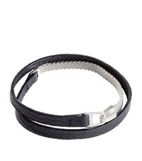 Miansai Chain Wrap Bracelet Unisex Black