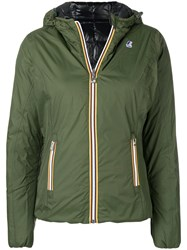 K Way Zipped Padded Jacket Green