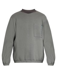Oamc Crew Neck Long Sleeved Sweater Grey