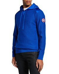 Canada Goose Ashcroft Wool Pullover Hoodie Pacific Blue