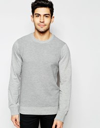 Another Influence Ribbed Crew Neck Jumper Grey
