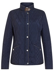 Gerry Weber Diamond Quilt Jacket Navy