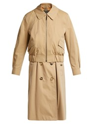 Burberry Reconstructed Harrington Trench Coat Beige