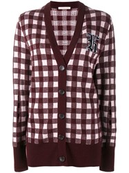 Christopher Kane Gingham Cardigan Red
