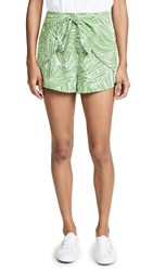 Lost Wander Vines Tie Front Shorts Green