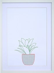 K Studio Potted Plant Wall Art White
