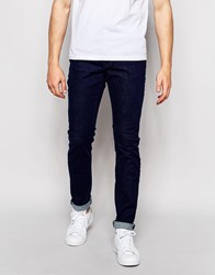 Pull And Bear Slim Fit Jeans In Indigo Indigo