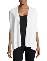 Lord And Taylor Oversized Cotton Blend Cardigan White