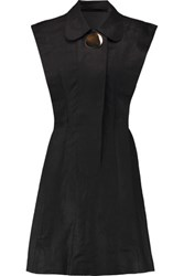 Opening Ceremony Cutout Linen Mini Dress Black