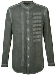 Tom Rebl Embroidered Shirt Men Cotton 46 Grey
