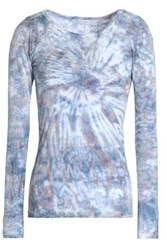 Kain Label Tie Dyed Cotton And Modal Blend Jersey Top Light Blue