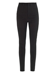 Givenchy High Rise Skinny Leg Jersey Trousers