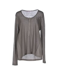 Rossopuro Topwear T Shirts Women Grey