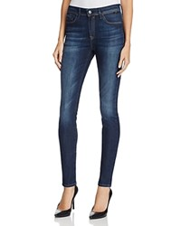 Mavi Jeans Alissa High Rise Skinny In Dark Brushed Indigo Gold