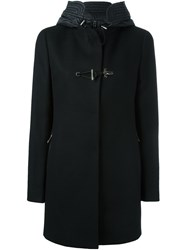 Fay Double Breasted Coat Black