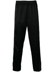 Damir Doma Printed Side Stripe Track Pants Black
