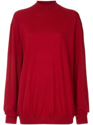 Strateas Carlucci Skivvy Knit Sweate Red