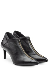 Roland Mouret Leather Ankle Boots Black