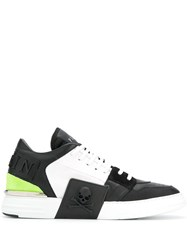 Philipp Plein Colour Blocked Low Top Sneakers Black
